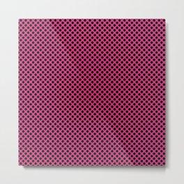 Fuchsia Purple and Black Polka Dots Metal Print