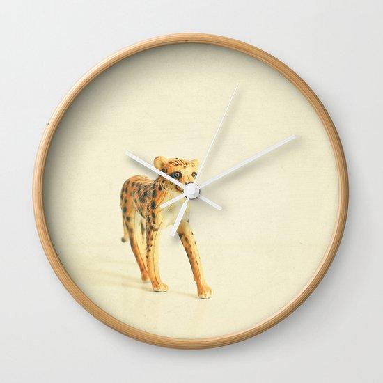 Catwalk Cheetah Wall Clock