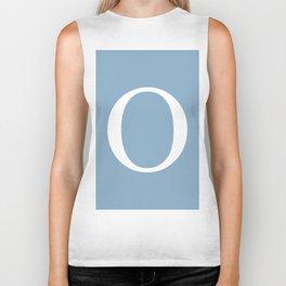 Letter O sign on placid blue background Biker Tank