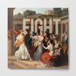 Fight. Metal Print