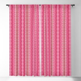 Linear Pink Shibori Blackout Curtain