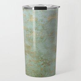 Metallic Effects Oxidized Copper Verdigris Industrial Rustic Travel Mug