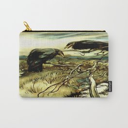 The Two Crows Carry-All Pouch