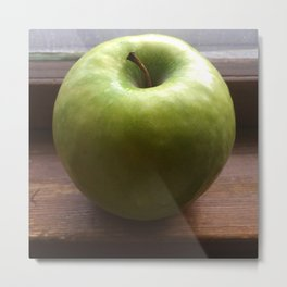Apple In The Window Metal Print