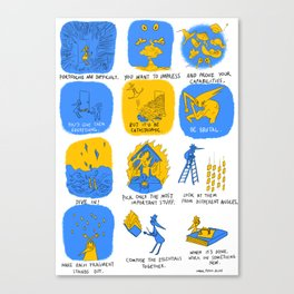 Portfolio Making Canvas Print