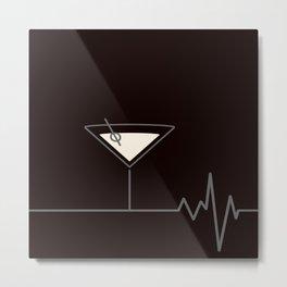 Martini Life II Metal Print