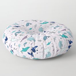 Marine Life Floor Pillow