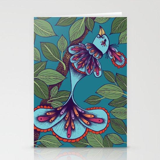 Butterfly Bird Stationery Cards