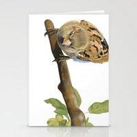 sparrow Stationery Cards featuring sparrow by Alessandra Razzi Illustrazioni