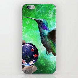 Colibri and the Pisces by GEN Z iPhone Skin