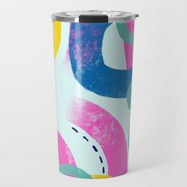 Fun bright abstract art Travel Mug