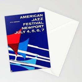 1957 Newport Jazz Festival Vintage Advertisement Poster Newport, Rhode Island Stationery Cards