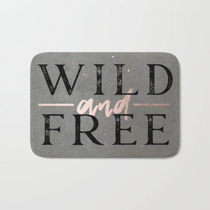 Wild and Free Rose Gold Bath Mat