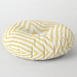 Gold Diamond Pattern Floor Pillow