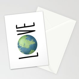 Love The Earth Stationery Cards