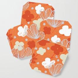 Spring Garden M+M Tangerine by Friztin Coaster