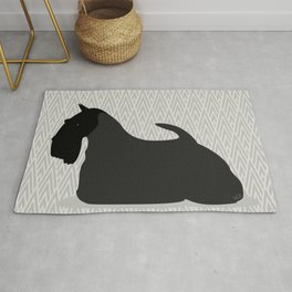 Roaring Scottish Terrier by IxCO Rug