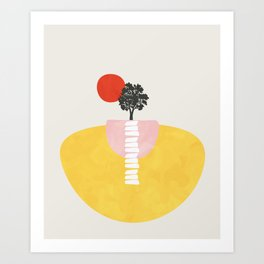 Modern shapes 5 Art Print