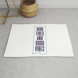 High Tides And Good Vibes  Rug