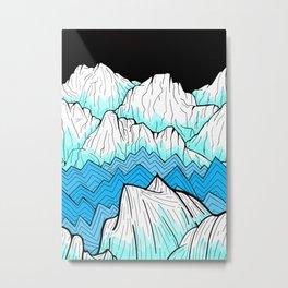 Antarctica mountains Metal Print
