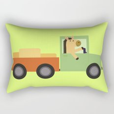 Horse on Truck Rectangular Pillow