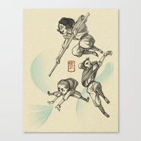 airbender Canvas Prints featuring Airbender Kids by OliLai