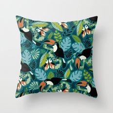 Toucan Tropics Throw Pillow