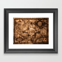 Old world map framed art prints society6 gumiabroncs Gallery