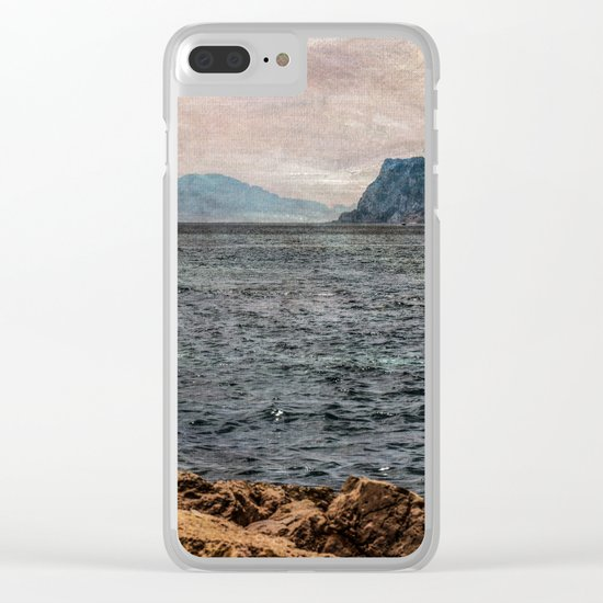 A view to the Rock of Gibraltar Clear iPhone Case