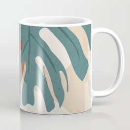 Abstract Art Tropical Leaves  Coffee Mug
