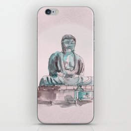 Peace and Harmony watercolor buddha pastel illustration iPhone Skin