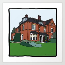 Cambridge struggles: Lucy Cavendish Art Print