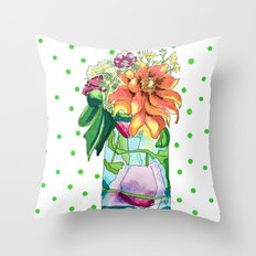 Summer in a Jar Throw Pillow