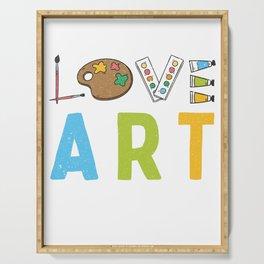 Love Art Gift Serving Tray