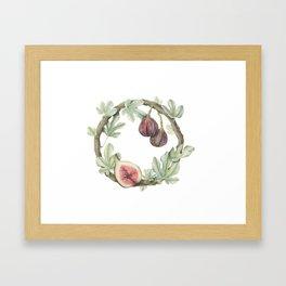 Fig Wreath Framed Art Print