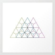 #208 Dolomiti – Geometry Daily Art Print