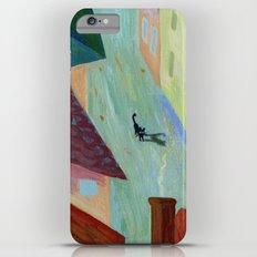 Black Cat in the city Slim Case iPhone 6s Plus