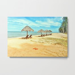 Beach Slippers Metal Print