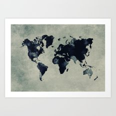 map world map 60 Art Print