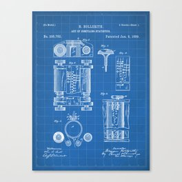 First Computer Patent - Technology Art - Blueprint Canvas Print