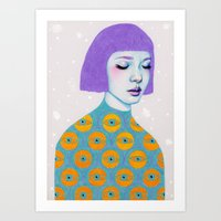 woman Art Prints featuring The Observer by Natalie Foss