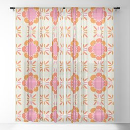 Sixties Tile Sheer Curtain