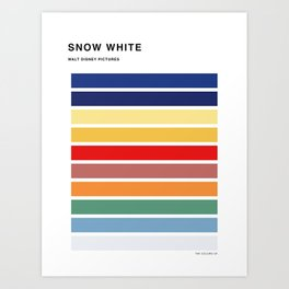 The colors of - Snow white Art Print