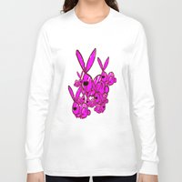 bunnies Long Sleeve T-shirts featuring Bunnies by Christa Bethune Smith