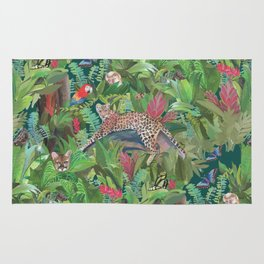 Into the Wild Emerald Forest Rug