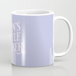 Satan's Little Heper - Pastel purple and light pink funny typography quote Coffee Mug