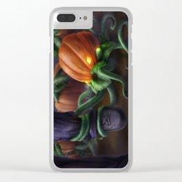 Pumpkin Octopus Clear iPhone Case