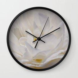 Simply White & Beautiful Flower by Aloha Kea Photography Wall Clock