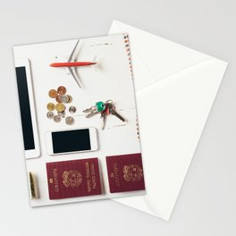Ready to leave! Travel the world Stationery Cards