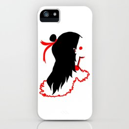 girl with red ribbon iPhone Case